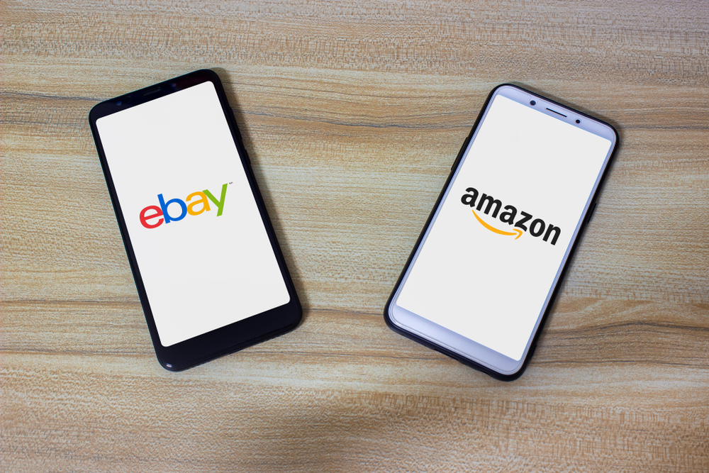 This concept shows rivalry of eBay and amazon